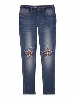 Jeans Plaid Star Skinny Jeans(little Girls & Big Girls)