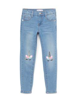 Freestyle Revolution Unicorn Knee Detail Skinny Jean (Little Girls & Big Girls)