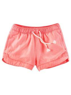 Little Girls' Neon Sun Shorts, 3-toddler