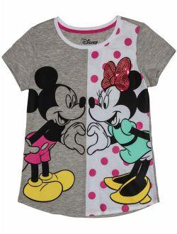 Love Always Mickey and Minnie Sequin Graphic T-Shirt (Little Girls & Big Girls)