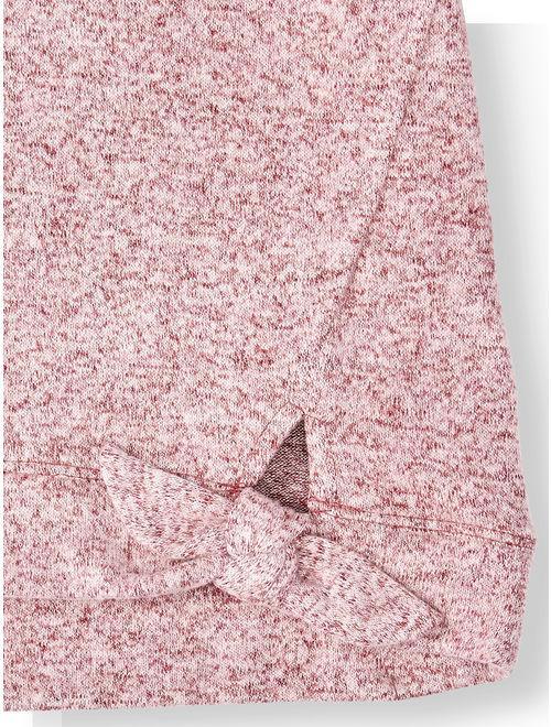 Tie Waist Long Sleeve Top (Big Girls)