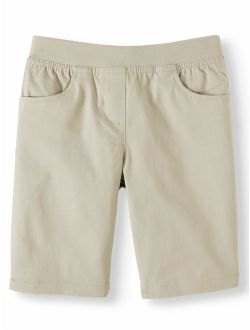 Girls School Uniform Stretch Twill Pull-on Shorts (little Girls & Big Girls)