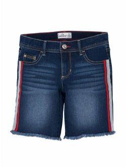 Side Stripe Denim Bermuda Short (little Girls & Big Girls)