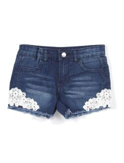 Girls Stretch 4 Pockets Premium Shorts with Lace
