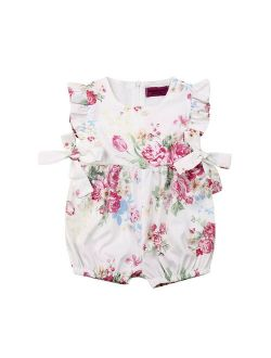 Lovely Newborn Floral Romper Baby Girls Clothes Cotton Floral Romper Playsuit Jumpsuit Summer Infant One Piece Outfits