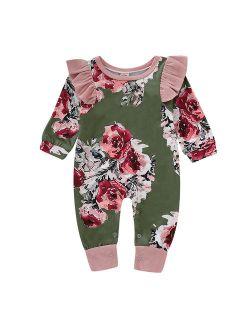 New Brand Toddler Floral Romper Girls Infant Newborn Kids Baby Clothes Romper Jumpsuit Playsuit Children One-Piece Clothes