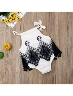 Infant Newborn Baby Girl Romper Jumpsuit Dress Clothes Floral Playsuit