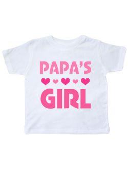 Papas Girl Granddaughter Gift Toddler T-Shirt