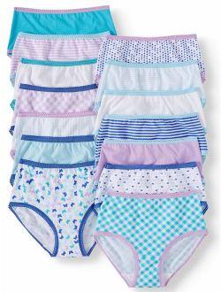 Girls' 100% Cotton Brief Panties, 14 Pack