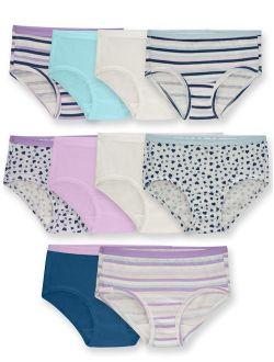 Underwear Assorted Classic Cotton Brief Panties, 10 Pack (little Girls & Big Girls)