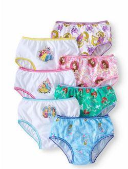 Princesses Rapunzel; Belle; Ariel; Cinderella Girls' Underwear, 7 Pack Panties (little Girls & Big Girls)