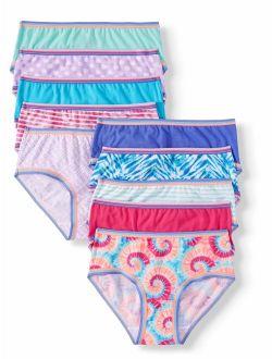 Girls' Underwear Cotton Hipster Panties, 10 Pack Assorted (little Girls & Big Girls)