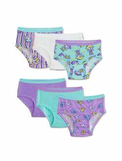 Underwear Assorted Cotton Brief Panties, 6 Pack (toddler Girls)
