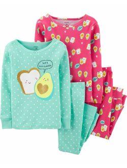 Carter's Girls' 4-Piece Snug Fit Cotton Pajamas