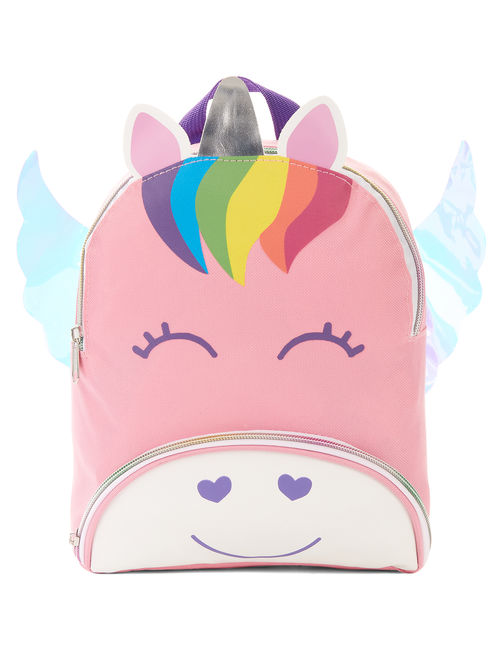 Carried Away Girls' Light Pink Unicorn Backpack With Wings