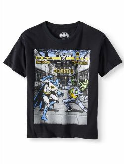 "DC Comics Batman ""Round One"" Short Sleeve Graphic Tee (Little Boys & Big Boys)"