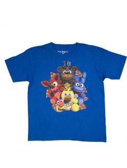 Five Nights at Freddy's Pizza Group Royal Blue Cotton T-Shirt (Little Boys & Big Boys)
