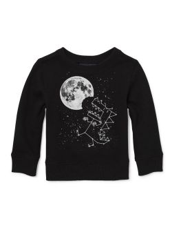 Long Sleeve Space Graphic T-shirt (baby Boys & Toddler Boys)