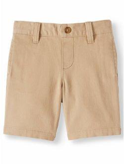 Toddler Boys School Uniform Stretch Twill Flat Front Shorts (toddler Boys)