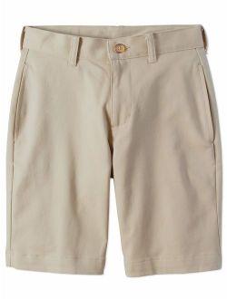 Husky Boys School Uniform Super Soft Flat Front Shorts (husky)