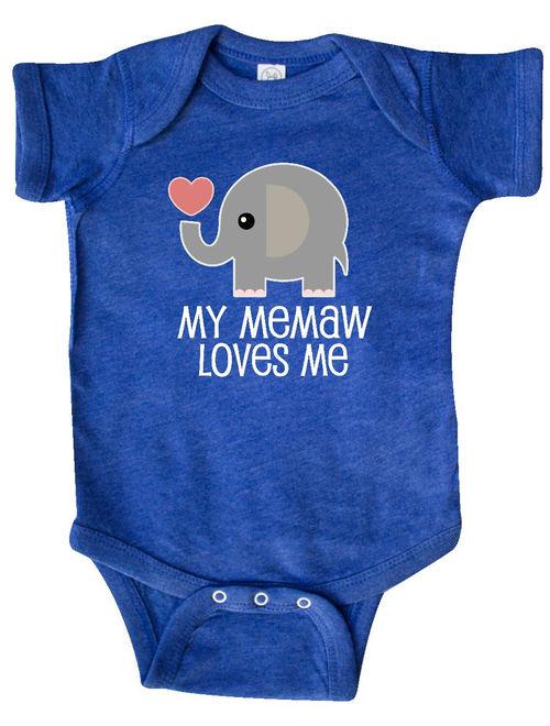 Memaw Loves Me Grandchild Gift Infant Creeper
