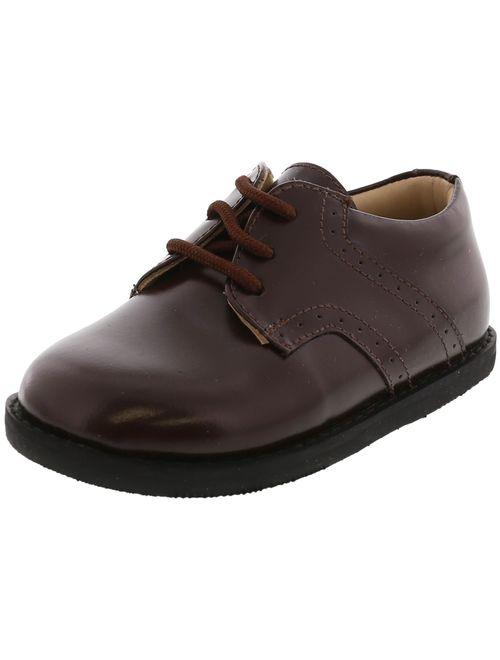 Elephantito Scholar Golfers Brown Ankle-High Leather Oxford Flat - 3M