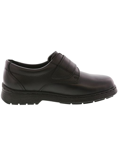 School Issue Eddie HAmp;L Black Ankle-High Leather Loafer - 4W