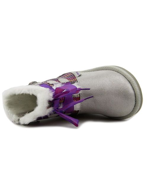 Stride Rite Baby Girl's Disney Frozen Cozy Boot (Toddler) Silver Boot 5 Toddler M