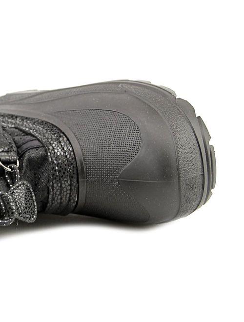 kamik powdery youth round toe canvas black snow boot