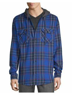 Men's Hooded Flannel Shirt