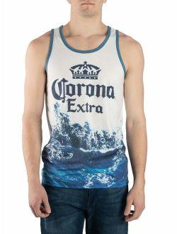 Men's Beer Joester Loria Corona Extra Sublimated Wave Graphic Tank Shirt