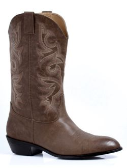 Clint Mens Brown Cowboy Halloween Costume Boots