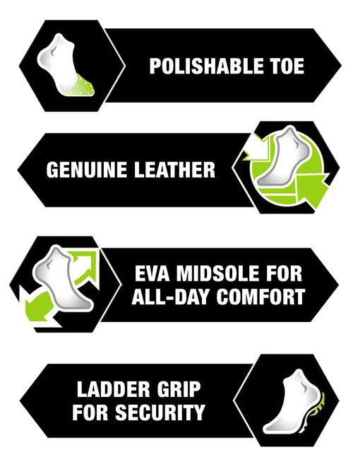 Interceptor Men's Guard Zippered Ankle High Work Boots, Slip Resistant, Black