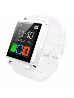 T-9 Premium White Bluetooth Smart Wrist Watch Phone Mate For Android Samsung Htc Lg Touch Screen With Camera