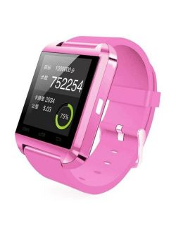 Pink Bluetooth Smart Wrist Watch Phone Mate For Android Samsung Htc Lg Touch Screen