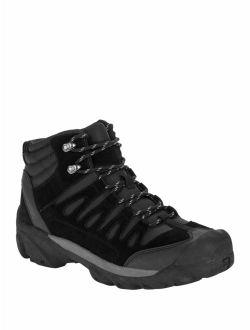 Men's Black Leather Bump Toe Hiking Boot