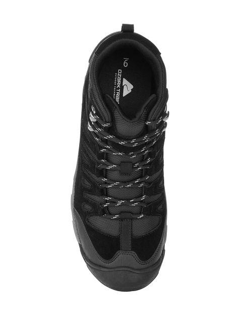 Ozark Trail Men's Black Leather Bump Toe Hiking Boot