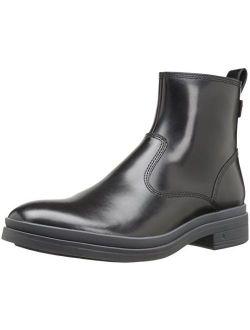 Brown Men's Bradner Zip Rain Boot, Black/gun Metal, 7.5 M Us