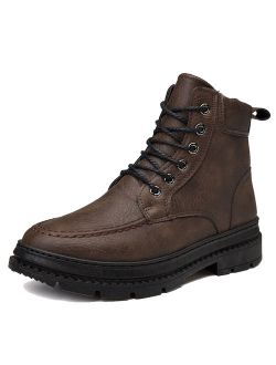 Men's Martin Boots Waterproof Non-Slip Winter Comfortable Work Boot High Top Lace Up Shoes