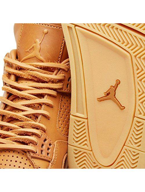 Nike Mens Air Jordan 4 Retro Premium Ginger/Gum Yellow Leather