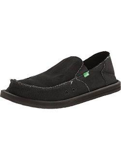 Sanuk Men's Vagabond Slip On Canvas Loafers