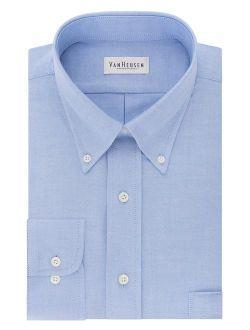 Men's Regular Fit Oxford Solid Long Sleeve Dress Shirt