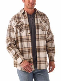 Long Sleeve Relaxed Fit Sherpa Lined Shirt Jacket
