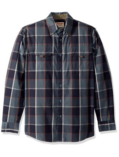 Wrangler Authentics Mens Short Sleeve Canvas Shirt