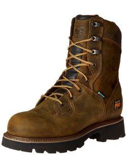 """Pro Men's 8"""" Crosscut Waterproof Soft-toe Logger Work Boot"""