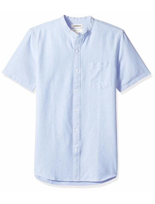 Goodthreads Slim-Fit Short-Sleeve Solid Oxford Shirt W//Pocket Uomo Marchio