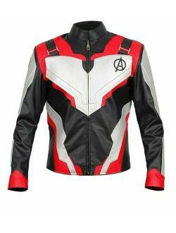Avengers Endgame Quantum Realm Cosplay Biker Slim Fit Leather Jacket