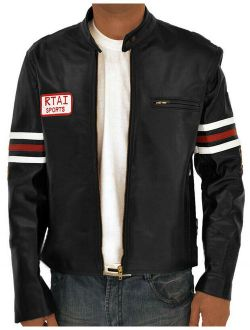 House MD,Dr. Gregory Black FAUX Leather Biker Jacket, All Size