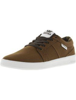 Supra Men's Ineto Brown / White Ankle-High Canvas Fashion Sneaker - 10.5M