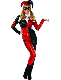 Adult's Womens Deluxe DC Comics Harley Quinn Classic Jester Costume